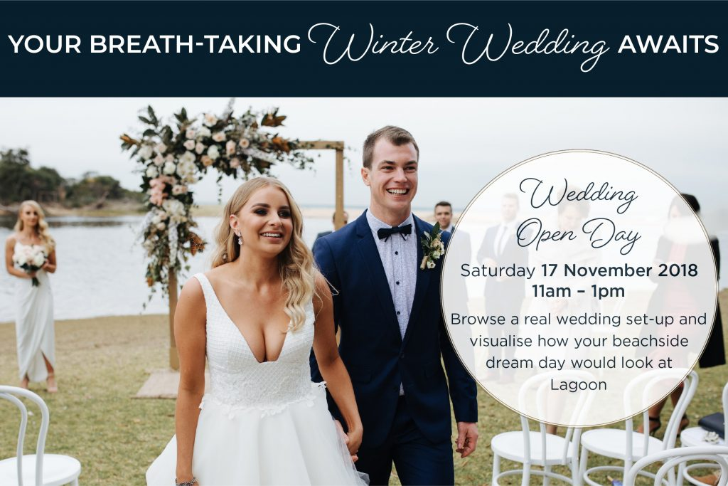 Lagoon winter wedding offer